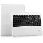 Naztech Sleek Portfolio with Detachable Bluetooth Keyboard for the New iPad & iPad 2 - White