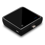 Naztech 1900mAh Mini USB Emergency Back-Up Battery Pack - Black