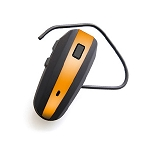 NoiseHush N500 Bluetooth Headset Black and Orange