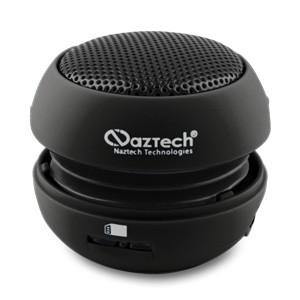 Naztech N15 3.5mm Mini Boom Speaker with SD Card Slot for WMA/MP3 Playback - Black